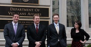 The New Media Team in front of VA Central Office