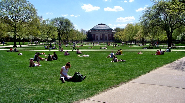 The quad at the University of Illinois