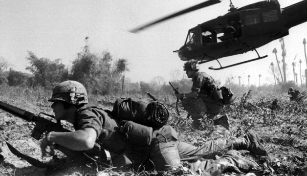 Troops in combat in Vietnam