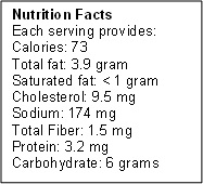 broccoli salad nutrition facts