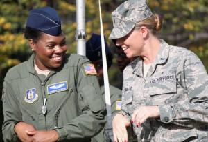 Image of two women in Air Force Uniforms