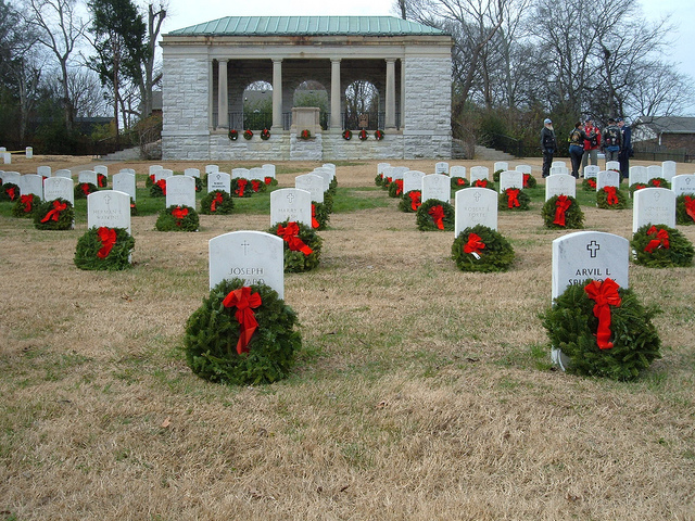 The Nashville National Cemetery in Madison, Tenn., was established in July, 1866; with most of the land acquired shortly after the Civil War. The original interments were the remains of soldiers removed from temporary burial grounds around Nashville's general hospitals, as well as the Civil War battlefields at Franklin and Gallatin, Tenn., and Bowling Green and Cave City, Ky. There are 4,141 unknowns interred at Nashville National Cemetery. The stone wall around the cemetery and the limestone archway at the entrance were both constructed in 1870. The present lodge, the third constructed at the cemetery, was built near the site of the original lodge and was completed in 1931. Nashville National Cemetery was listed in the National Register of Historic Places in 1996.
