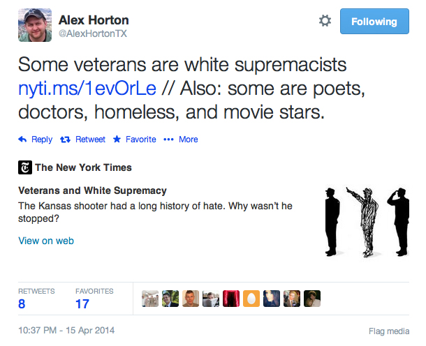 Alex Horton tweet
