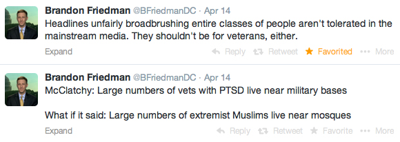 Brandon Friedman tweets