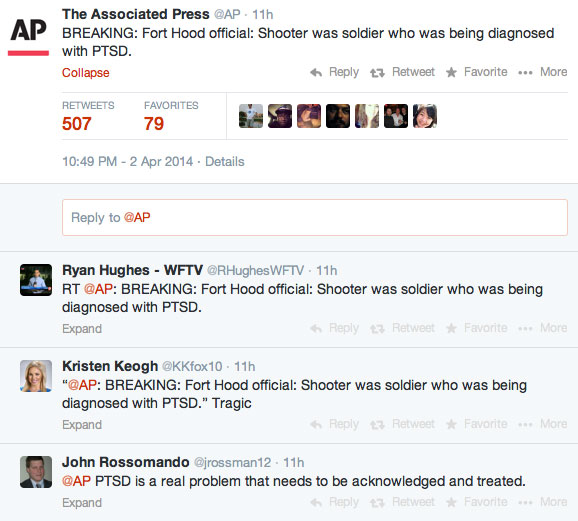 Media outlets jumped on the fact that the accused Fort Hood gunman was being evaluated for PTSD.