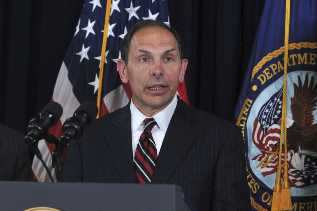 Robert McDonald makes remarks at VA