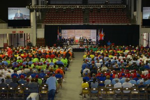 740 Veterans from 40 states attended the opening ceremony.