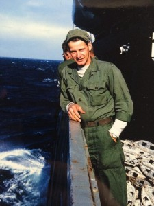 Chester Pedersen on his way home from the Korean War