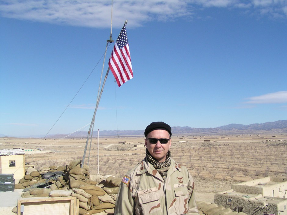 The author in Afghanistan, early spring of 2003, at a special forces camp near the Pakistan border.