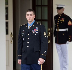 Ryan Pitts walks out of the West Wing at the White House in Washington, District of Columbia.