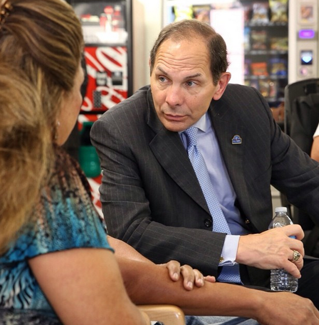 Sec. Robert McDonald speaks with patients at the Phoenix VA Medical Center #ICARE