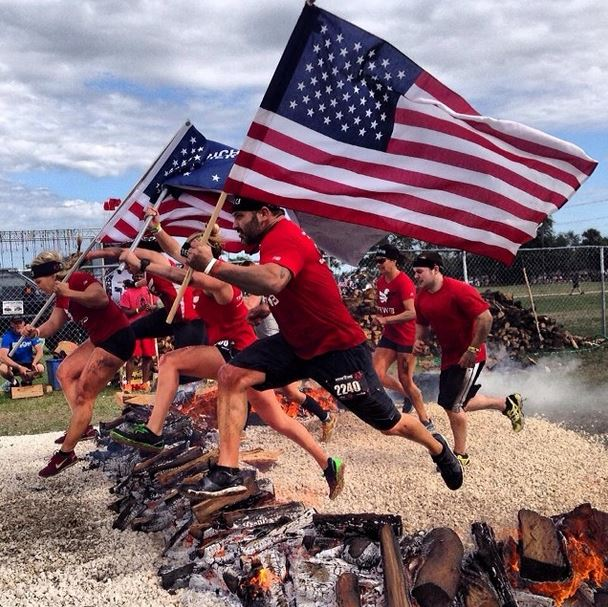Team RWB members run the Spartan Race