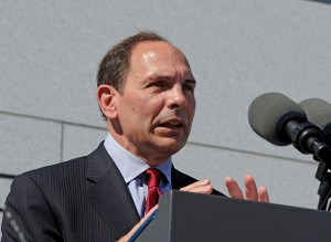 VA Secretary Bob McDonald speaks at the dedication of the American Veterans Disabled for Life Memorial was dedicated in Washington, D.C. on Sunday, October 5.