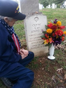 Lois visits her husband's gravesite at Arlington National Cemetery