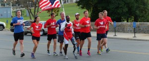 The Old Glory Coast to Coast relay finishes at Walter Reed Hospital