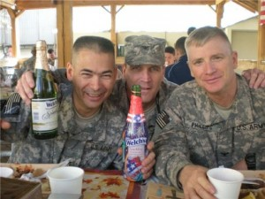 U.S. Army Veteran Rick Phillips celebrates Thanksgiving 2008 in Camp Eggers, Kabul, Afghanistan
