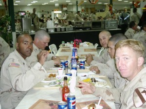 Thanksgiving 2004 at Camp North Victory, Baghdad, Iraq. Submitted by SGT Deister of the A/411th EB Combat Heavy.