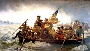 Washington Crossing the Delaware, by Emanuel Leutze, 1851.
