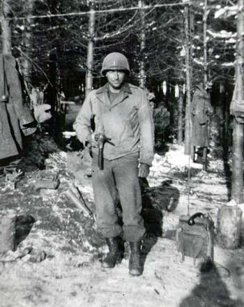 1st. Lt. Joseph Brigandi of Co. L, 134th Infantry Regiment, 35th Infantry Division.