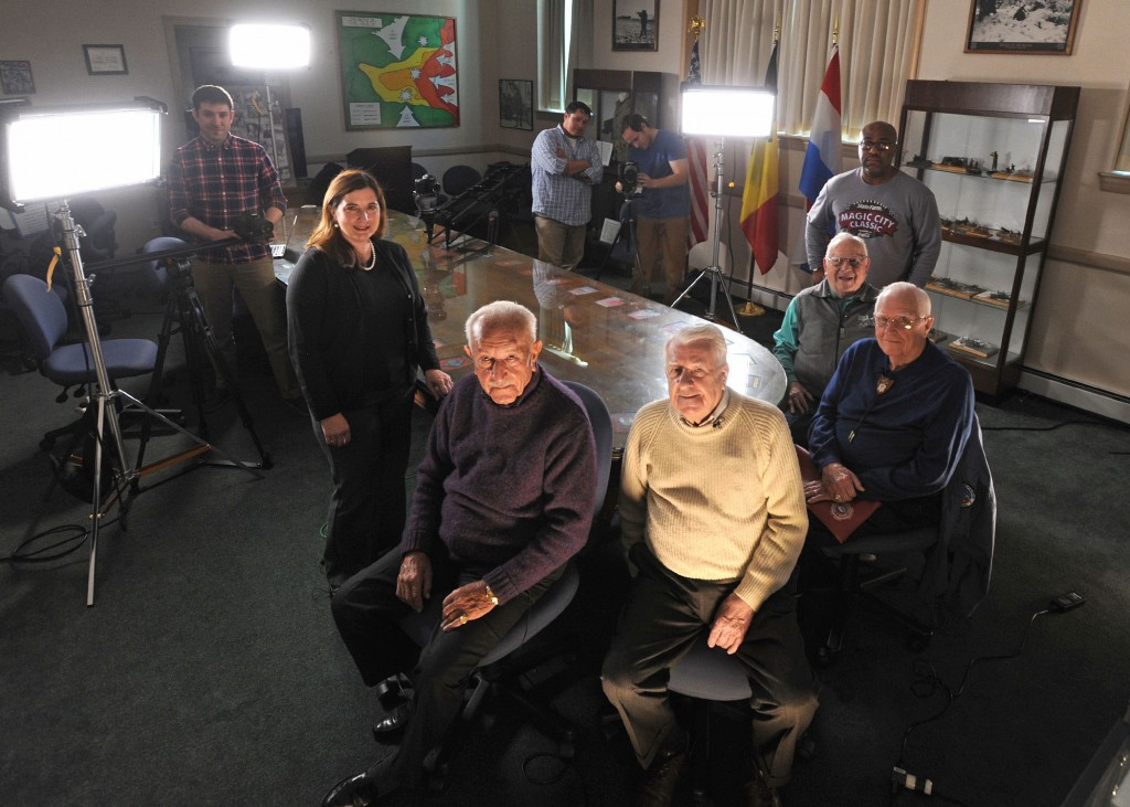 The crew and Veterans features in VA's web series Living History: Battle of the Bulge.