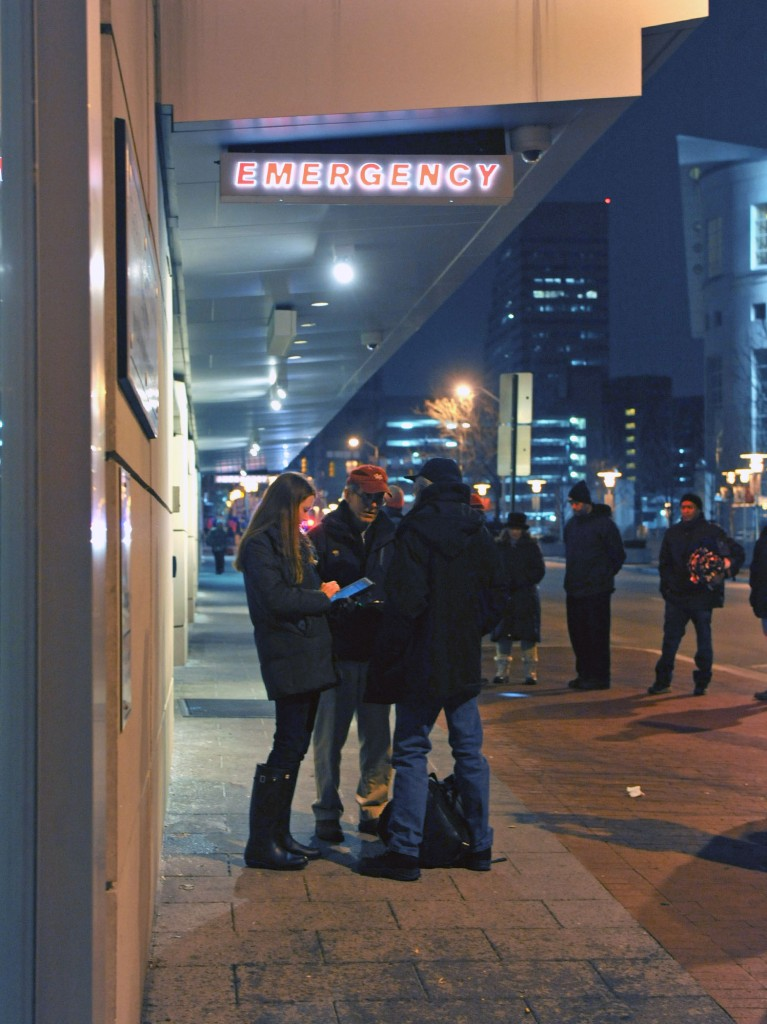Overnight January 25-26, 2015, the annual point-in-time homeless count was held in Baltimore. VA Deputy Secretary Sloan Gibson, U.S. Housing and Urban Development and Baltimore City officials participated in this year's count. VA photos by Robert Turtil.