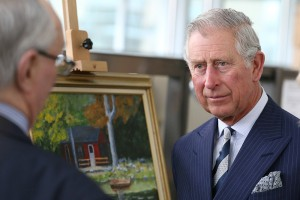 Prince Charles visits the Armed Forces Retirement Home in Washington, D.C.