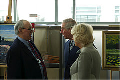 Navy Veteran Michael Martinez with Prince Charles and the Duchess of Cornwall