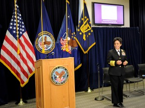 "The event's distinguished speaker, U.S. Navy Adm. Michelle Howard, Vice Chief of Naval Operations – currently the highest ranking woman in the entire military – noted the importance of the campaign saying, ""We  won't know the extent of women's contributions to the military unless we engage in discussions about them."""