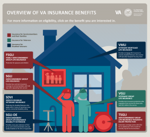 VA Life Insurance options infographic
