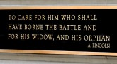 """To care for him who shall have borne the battle"""