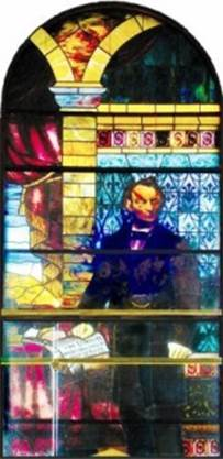 Lincoln stained glass window