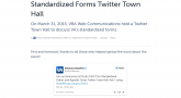 Q&A standardized forms
