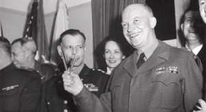 General Eisenhower following Germany's surrender