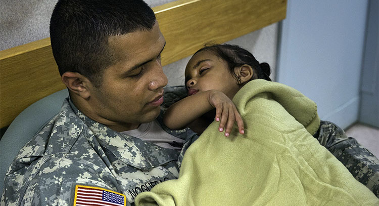 A warm-hearted gesture: VA employee makes a difference for a Soldier and his daughter