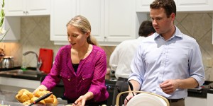 USAID employees volunteer at the fisher House in Washington, DC.