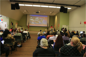 Hundreds of Veterans attended the event to learn more about VA services for women.