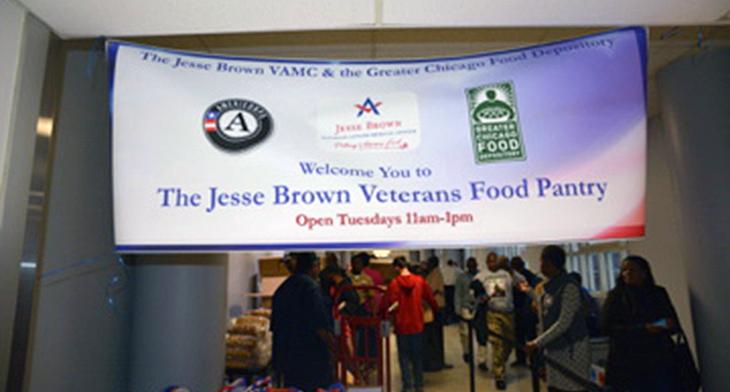 Jesse Brown VAMC food pantry