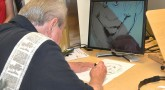 Artist at Blind Rehab sees his way through