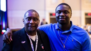 Manny Welch II and son, Manny Welch III, at Justice for Vets national conference.