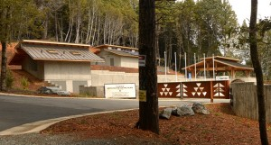 New construction recently completed on tribal lands for the Yurok Veterans Cemetery in California.