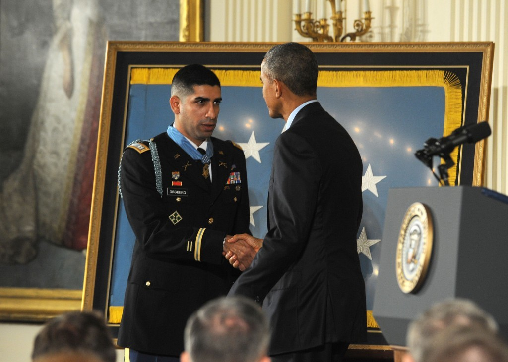 U.S. Army Capt. Florent Groberg awarded the Medal of Honor for actions in Afghanistan