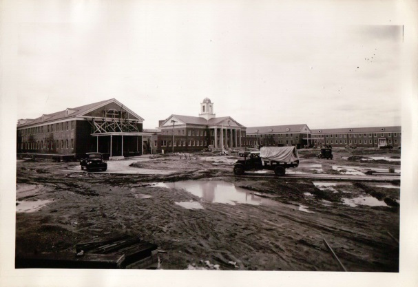 U.S. Navy Hospital, Dublin, Ga., under construction in 1943