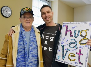 The Human Hug Project visited the Lexington VA Medical Center on Tuesday, Jan. 19.  VA photo.