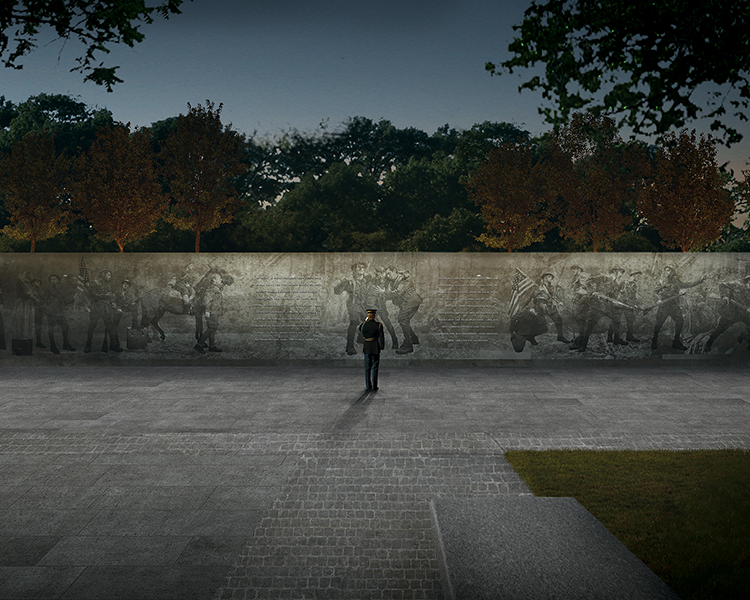 A rendering of the WWI Memorial Design