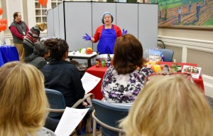 Lexington's Nutrition Service clinical dietician Brittany Calhoun demonstrated heart-healthy cooking techniques.