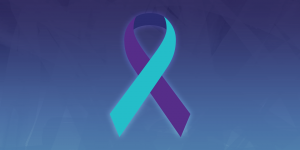 Suicide prevention ribbon.