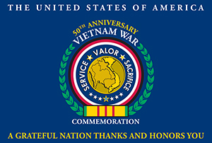 Vietnam 50th Commemoration Flag