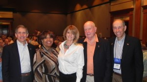 VA Deputy Secretary Sloan Gibson, VA Voluntary Service Director Sabrina Clark, Ellen Killough, CEO of PHWFF and PHWFF founder and President Ed Nicholson, and PHWFF Vice Chairman Bob Fitch at the National Program Rendezvous March 15.