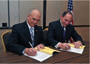 MOA signing with NASDVA president David Brasuell and VA secretary Bob McDonald.
