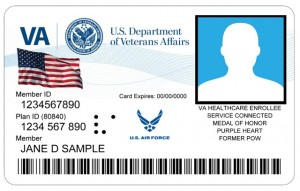 Image of Veterans ID card sample